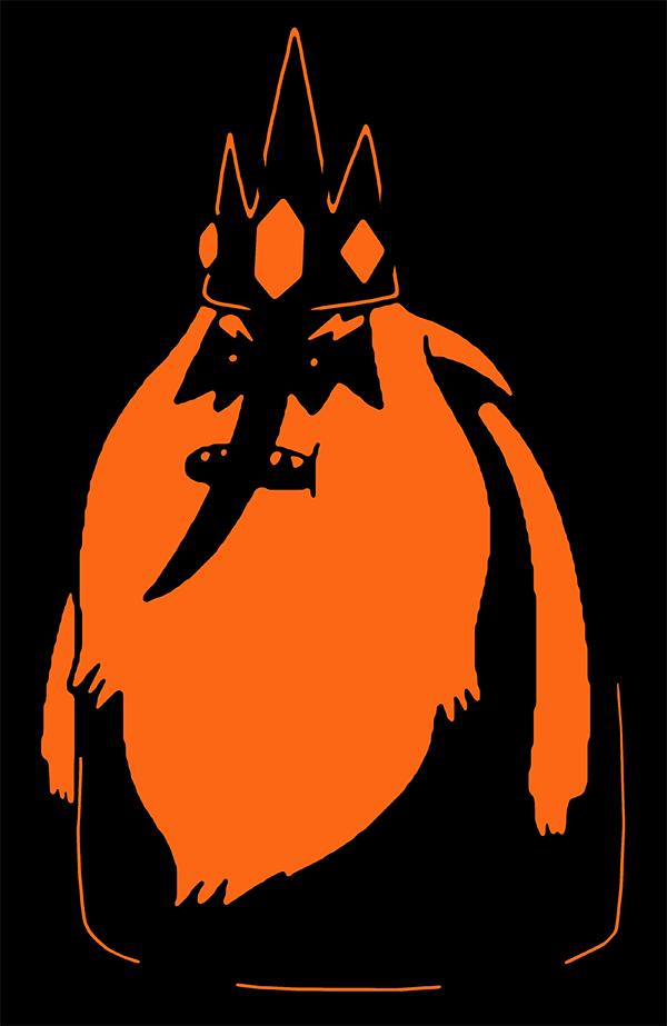 Free halloween pumpkin pattern ice king
